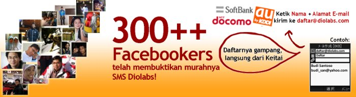 300 user FB pakai SMS Diolabs